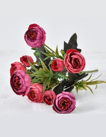 Lovely Red Flower Shape Decorated Ornament