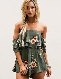 Elegant Green Off-the-shoulder Decorated Jumpsuits