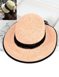 Fashion Orange Lace Decorated Hat