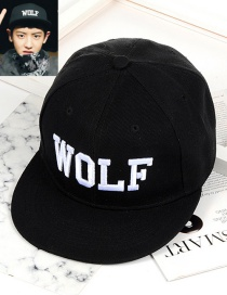 Fashion Black Letter Pattern Decorated Cap