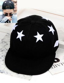 Fashion Black Star Pattern Decorated Cap