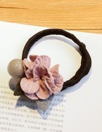 Lovely Pink Flower&pearl Decorated Hair Band