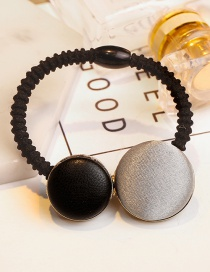 Lovely Gray+black Round Shape Design Color Matching Hair Clip