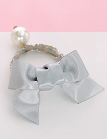 Lovely Gray Bowknot Shape Decorated Hair Band
