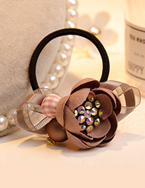 Fashion Pink Flower Shape Decorated Hair Band