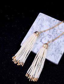 Vintage White Bead Decorated Necklace