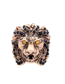 Vintage Antique Gold Lion Head Shape Decorated Ring
