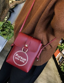 Fashion Red Round Shape Decorated Bag