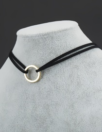 Fashion Black Round Shape Decorated Choker