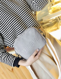 Fashion Gray Letter Pattern Decorated Bag