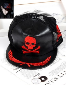 Fashion Black Skull Shape Decorated Hat