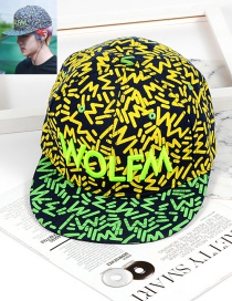 Fashion Green Color-matching Decorated Hat