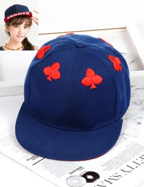 Personality Dark Blue Plum Blossom Shape Decorated Hat