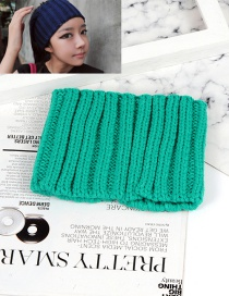 Fashion Green Pure Color Decorated Gloves