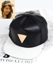 Fashion Black Triangle Shape Decorated Hat