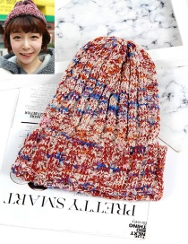 Fashion Red Color-matching Decorated Hat