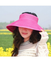Fashion Plum-red Pure Color Decorated Hat