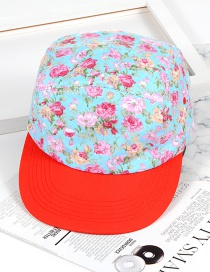 Fashion Light Blue Flower Shape Decorated Hat