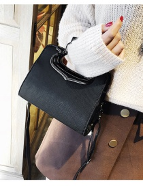 Fashion Black Hollow Out Decorated Bag