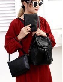 Fashion Black Tassel Decorated Bags(3 Pcs)