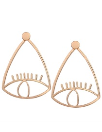 Fashion Gold Color Eyes Shape Decorated Earrings