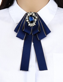 Fashion Navy Geometric Shape Decorated Brooch