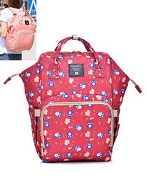 Fashion Red Owl Pattern Decorated Backpack