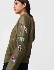 Fashion Brown Embroidery Decorated Jacket