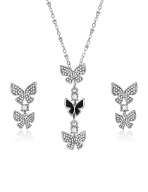 Elegant Silver Color Butterfly Shape Decorated Jewelry Sets(2pcs)