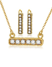 Fashion Gold Color Square Shape Decorated Jewelry Sets(2pcs)