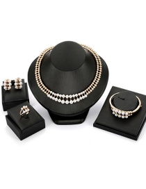 Fashion Gold Color Hallow Out Shape Decorated Jewelry Sets(4pcs)