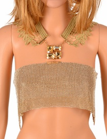 Fashion Gold Color Pure Color Decorated Body Chain