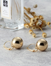 Elegant Gold Color Bead Shape Decorated Earrings