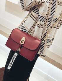 Fashion Red Letter Decorated Bag