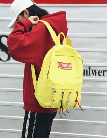 Fashion Yellow Letter Shape Decorated Backpack