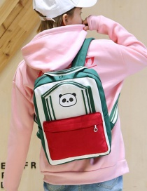 Lovely Green Panda Shape Decorated Backpack