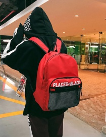 Fashion Red Letter Shape Decorated Backpack