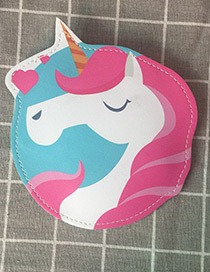 Fashion Pink Unicorn Shape Decorated Wallet