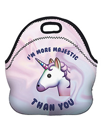 Fashion Light Purple Unicorn Pattern Decorated Bag