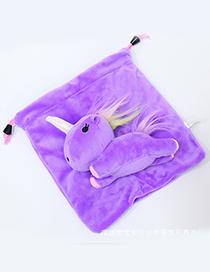 Lovely Purple Cartoon Unicorn Design Cosmetic Bag(or Wallet)