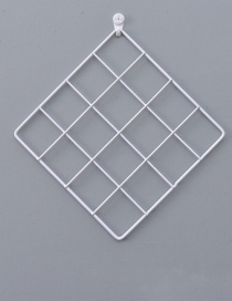 Fashion White Grid Shape Design Pure Color Ornament