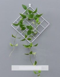 Fashion White+green Grid Shape Design Pure Color Ornament(with Acacia Vine)