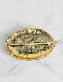 Fashion Gold Color Leaf Shape Design Simple Tray
