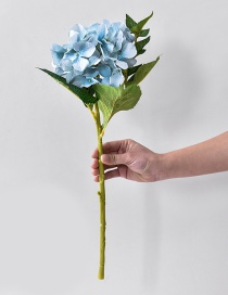 Fashion Blue Flowers Decorated Simple Ornament
