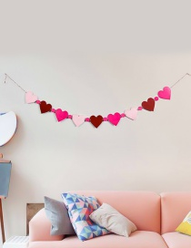 Fashion Multi-color Heart Shape Decorated Color Matching Ornament