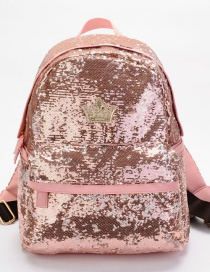 Fashion Pink Crown Shape Decorated Backpack