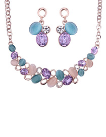 Elegant Multi-color Color-matching Decorated Jewelry Sets
