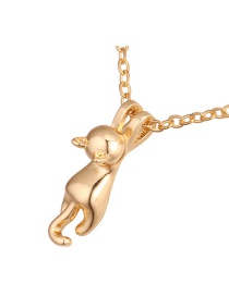 Fashion Gold Color Cat Shape Decorated Necklace