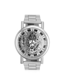 Fashion Silver Color Hollow Out Design Simple Watch
