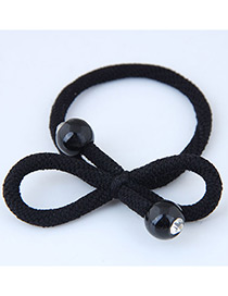 Sweet Black Bowknot Shape Design Hair Band
